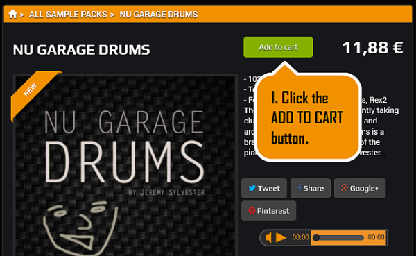 If you want to buy a sample pack, click the ADD TO CART button.