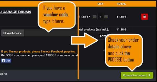 You will be redirected to the Checkout. You can continue shopping by pressing BACK button or PROCEED to payment.