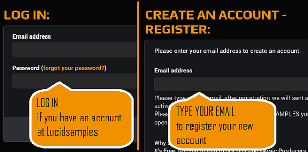 If you are not logged in, you can do it now or you can create a new account. It is free.