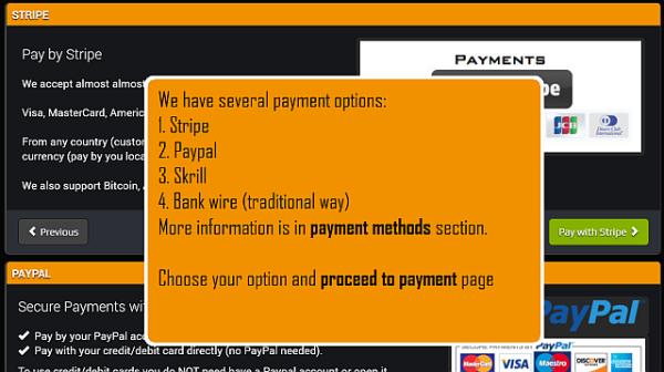 Agora escolha uma das nossas opções de pagamento.